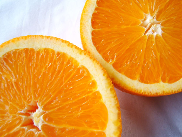 using orange on skin