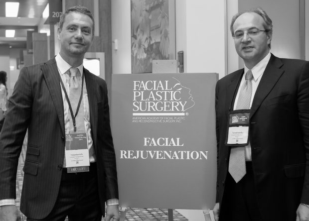 Dr. Konstantin and Dr. Tarashansky at the AAFPRS Conference